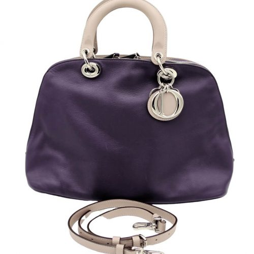 Sac Dior Diorissimo En Cuir Violet authentique occasion IconPrincess