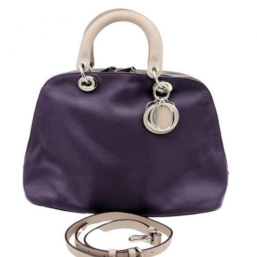 Sac Dior Diorissimo En Cuir Violet authentique occasion IconPrincess
