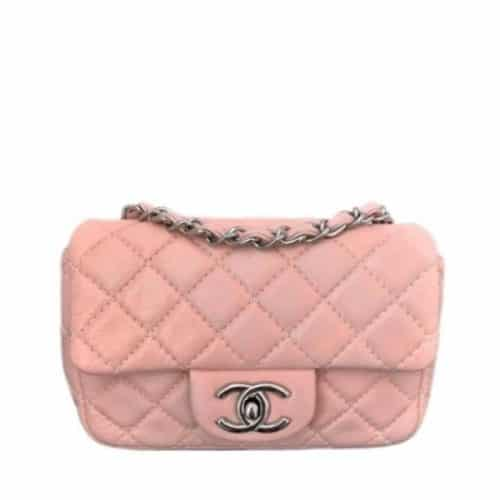 Sac à main Chanel Mini Timeless En Cuir Rose Pâle