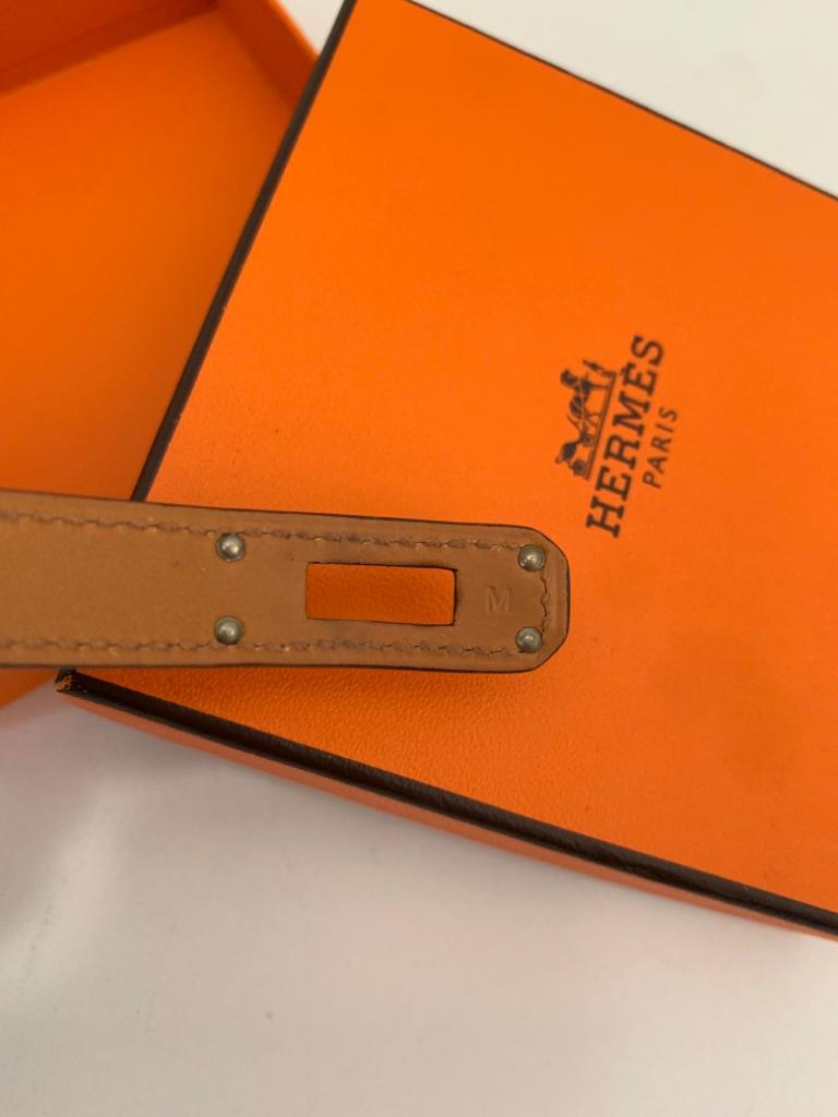 Hermès bracelet Kelly double tour en box Couleur Anémone , taille M