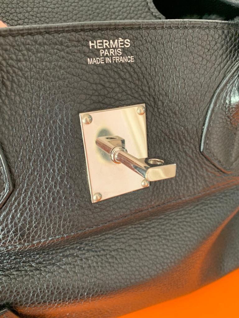 Hermès Birkin shoulder en cuir noir