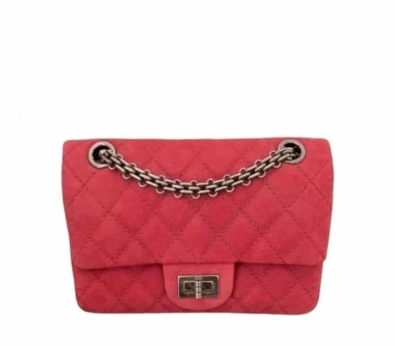 Mini Sac à Main Chanel 2.55 Cuir Framboise