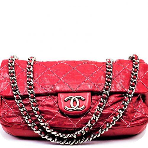 Sac à main Chanel Timeless Cuir Vieilli Rouge Cerise