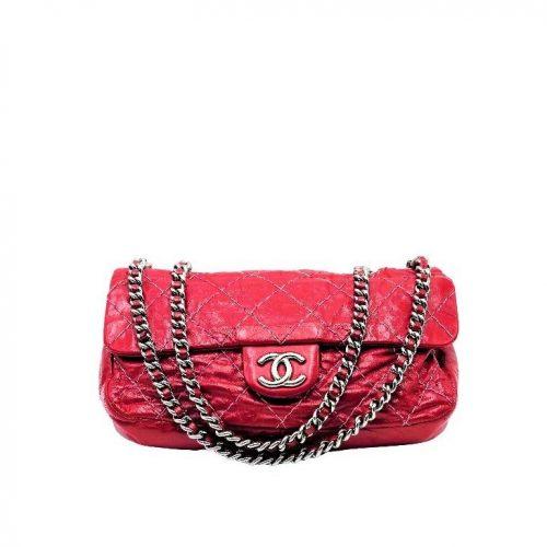 Sac Chanel Timeless Cuir Vieilli Rouge Cerise. Authentique de Iconprincess