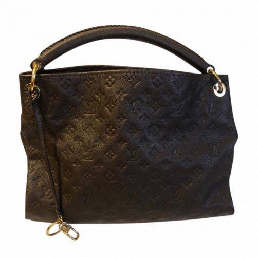 Sacoche Louis Vuitton Artsy en cuir marron foncé authentique de iconprincess