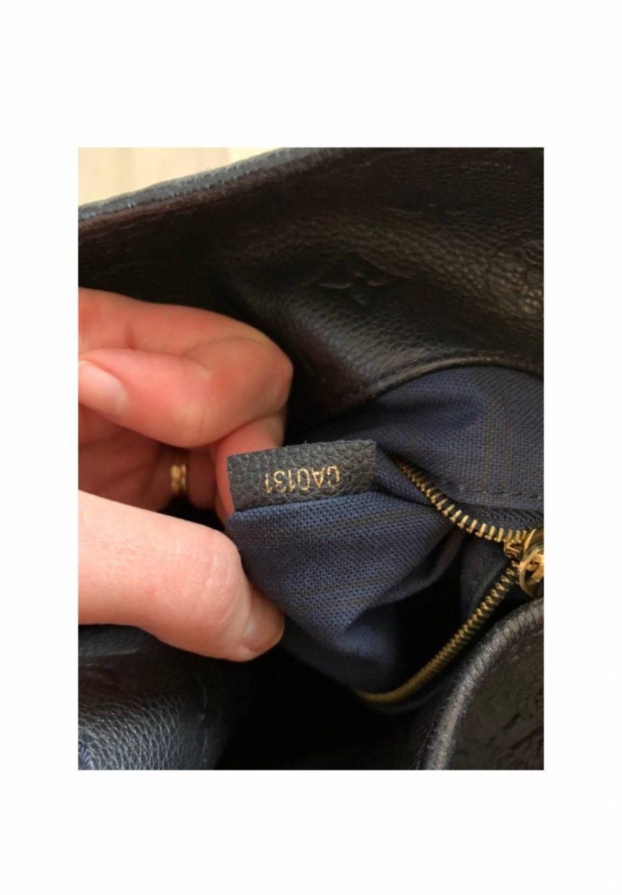 Louis Vuitton Artsy cuir bleu nuit authentique de iconprincess