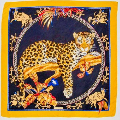 Ferragamo Foulard Tigre En Soie