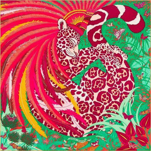 Hermès Carré Jaguar Quetzal
