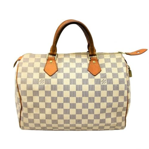 Sac à main Louis Vuitton Speedy 30 Damier Azur