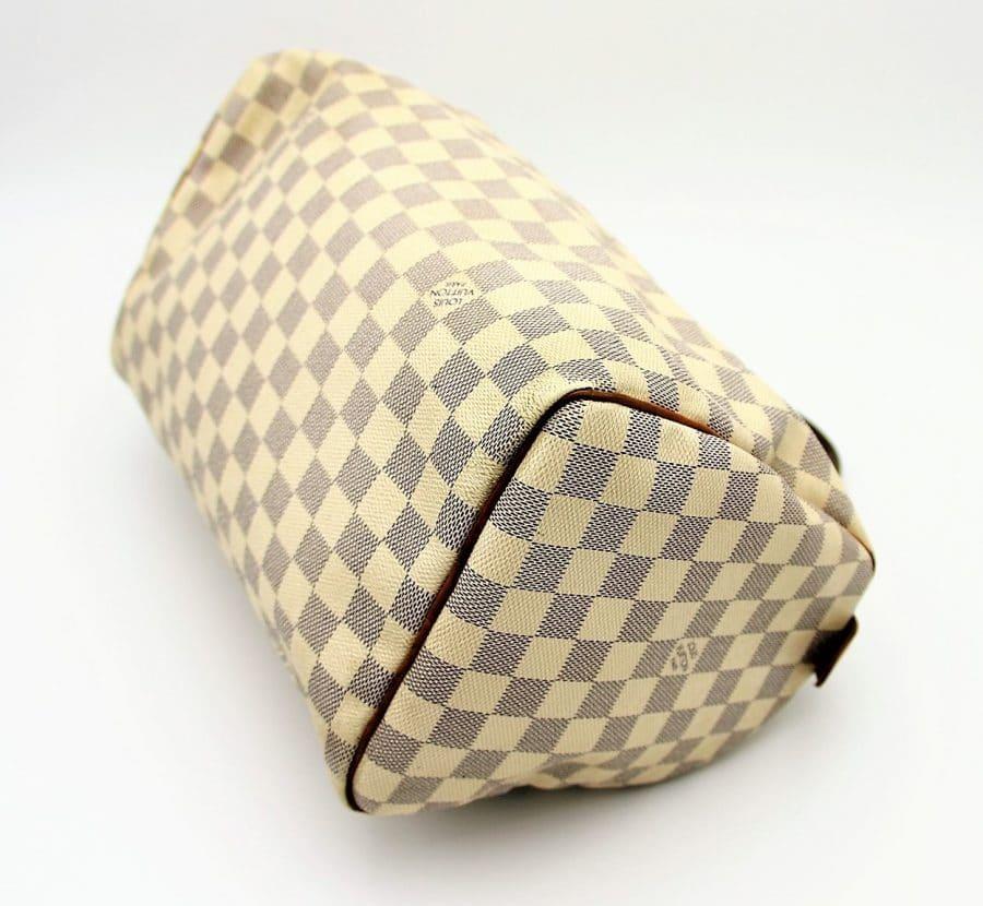 Sac à main Louis Vuitton Speedy 30 Damier Azur