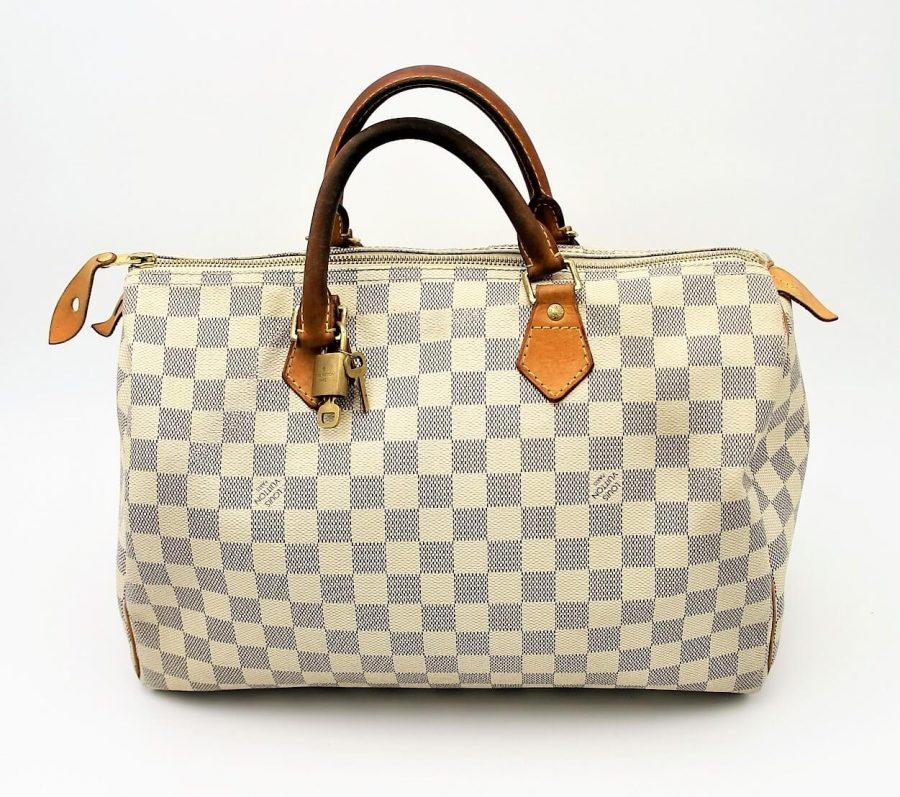 Sac à main Louis Vuitton Speedy 35 Damier Azur