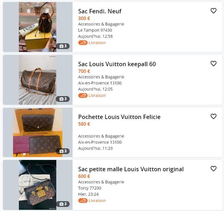Recherche Louis Vuitton Solde Screenshot