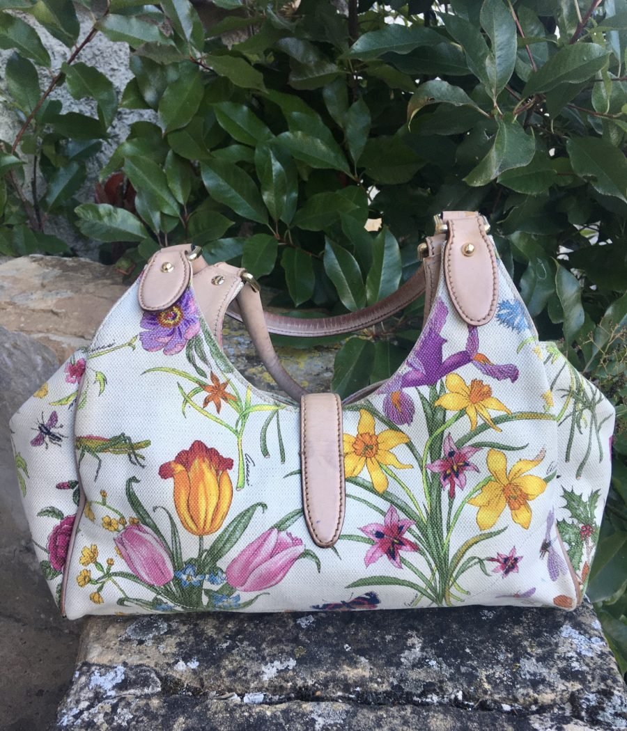 Sac Gucci Jacky O floral toile multicolore, occasion authentique IconPrincess