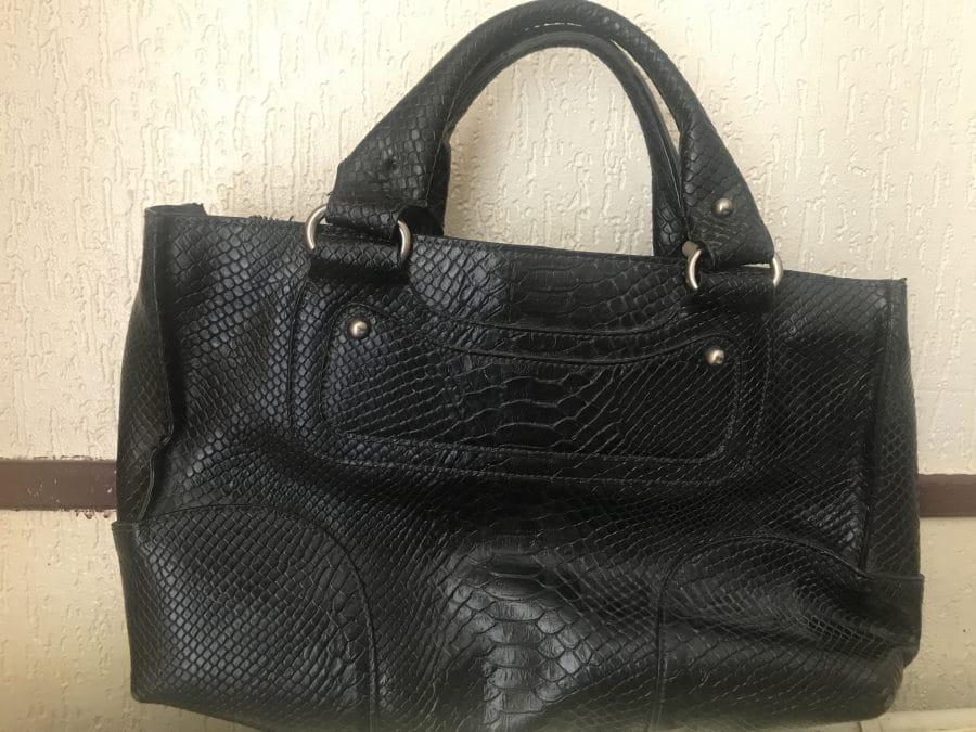 Céline sac cuir croco noir