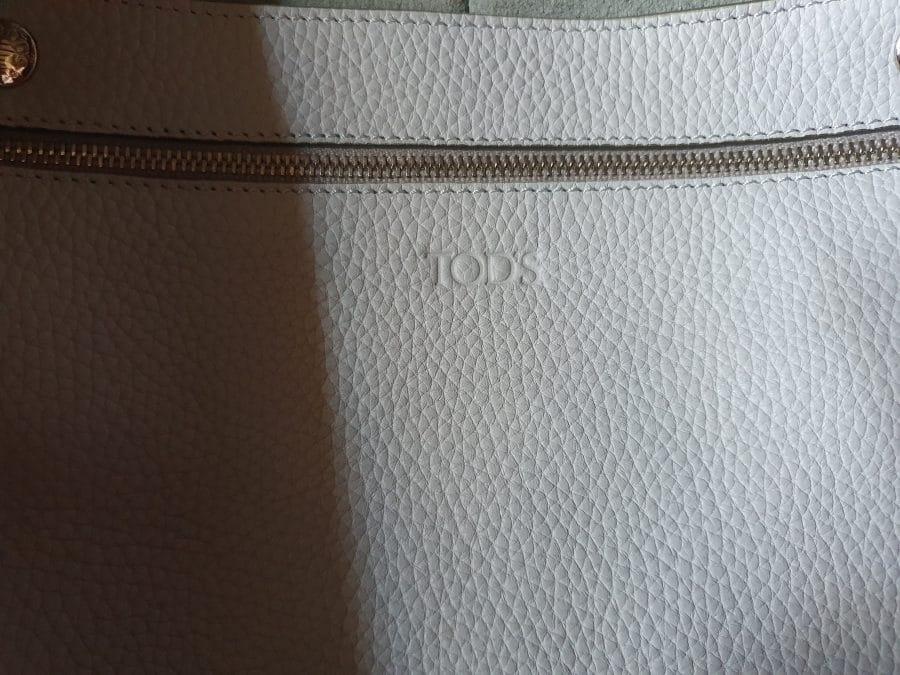 TOD'S Cabas Joy bag GM cuir gris nuage