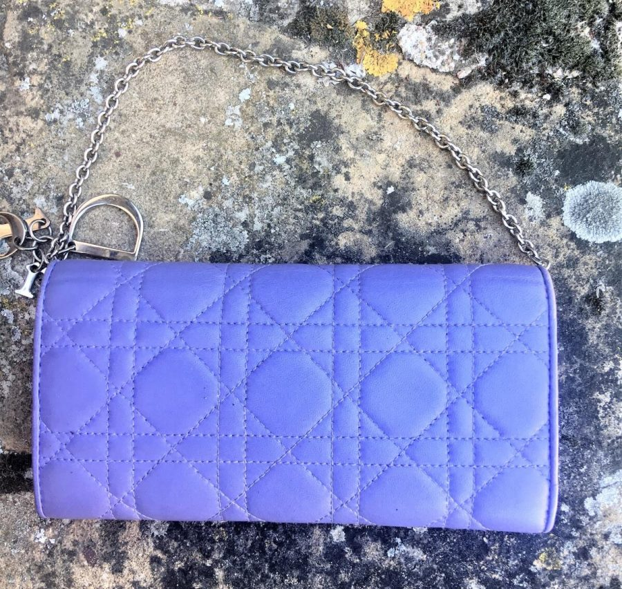 Pochette Lady Dior Clutch Cross Body Cuir Cannage. Authentique occasion IconPrincess
