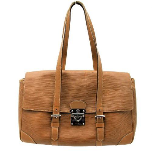 Louis Vuitton Ségur Cuir épi marron. Authentique occasion IconPrincess