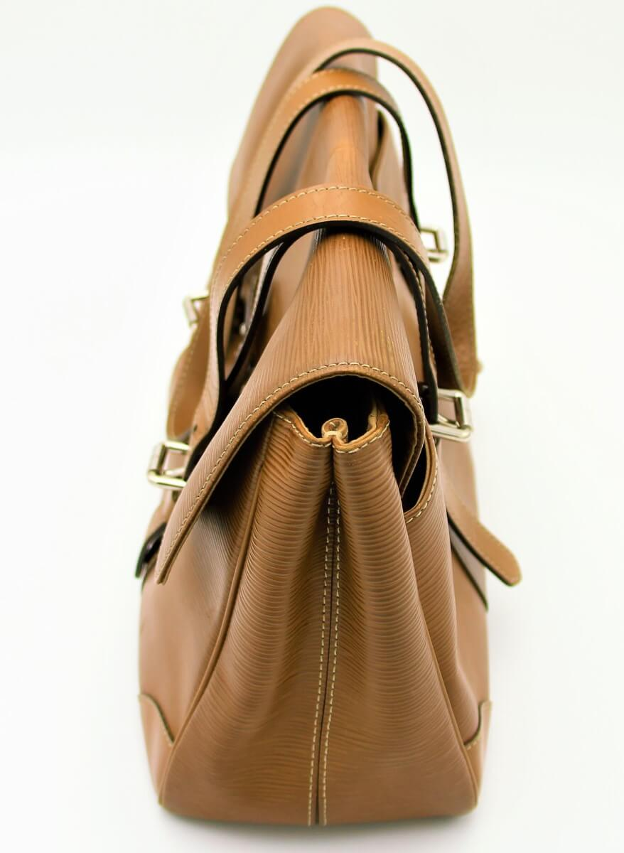 Louis Vuitton Ségur Cuir épi marron. Authentique occasion IconPrincess