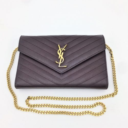 Yves Saint-Laurent clutch Kate Cuir en excellent état