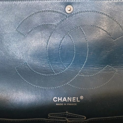 Chanel 2.55 Jumbo cuir verni en excellent état sur IconPrincess