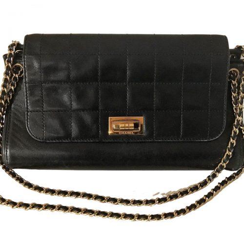 Sac Chanel 2.55 en cuir noir. Très bon état. Iconprincess, icon princess