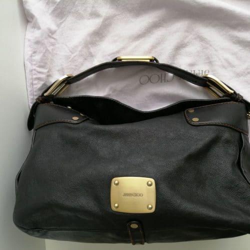 Superbe sac Jimmy Choo Handbag en cuir noir. Excellent état. Prix préférentiel. Livraison offerte