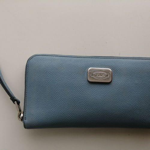 Portefeuille TOD's cuir bleuen très bon état et prix mini IconPrincess, Icon Princess