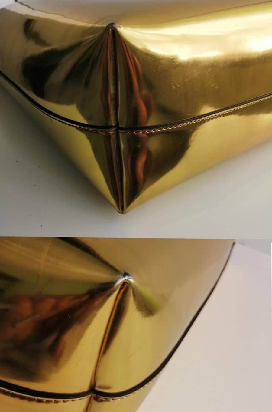 Cabas Marni en cuir gold. Très bon état. Livraison offerte.