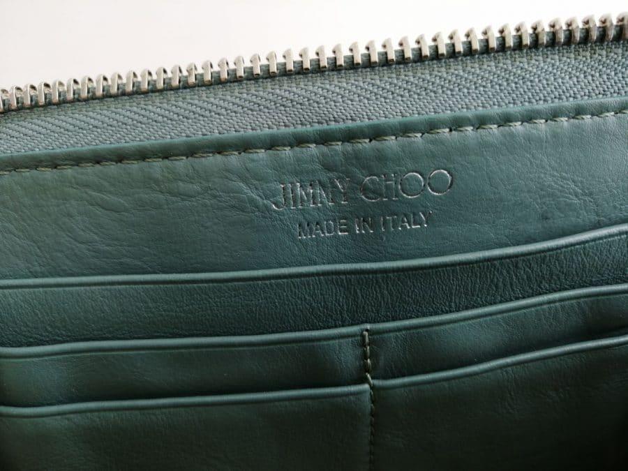 Portefeuille Jimmy Choo en cuir vert. Très bon état. Iconprincess, icon princess