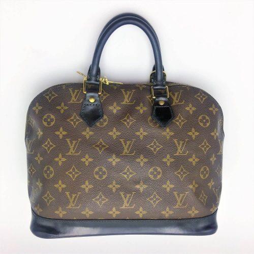 Louis Vuitton Alma monogramme cuir customisé noir. Iconprincess, Icon Princess