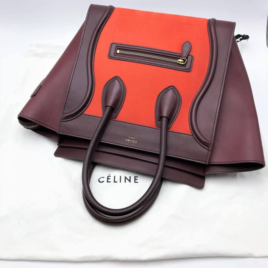 Sac Céline luggage GM en cuir, certifié iconprincess, icon princess.