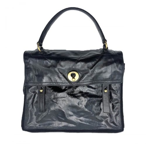 Sac YSL Muse Two GM cuir verni noir. Très bon état. Iconprincess, icon princess