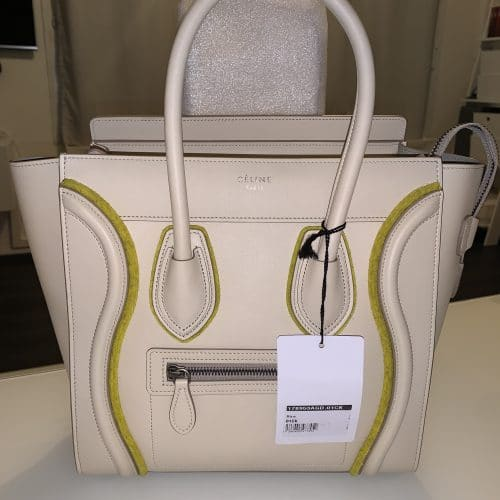 éline micro Luggage cuir beige NEUF. IconPrincess