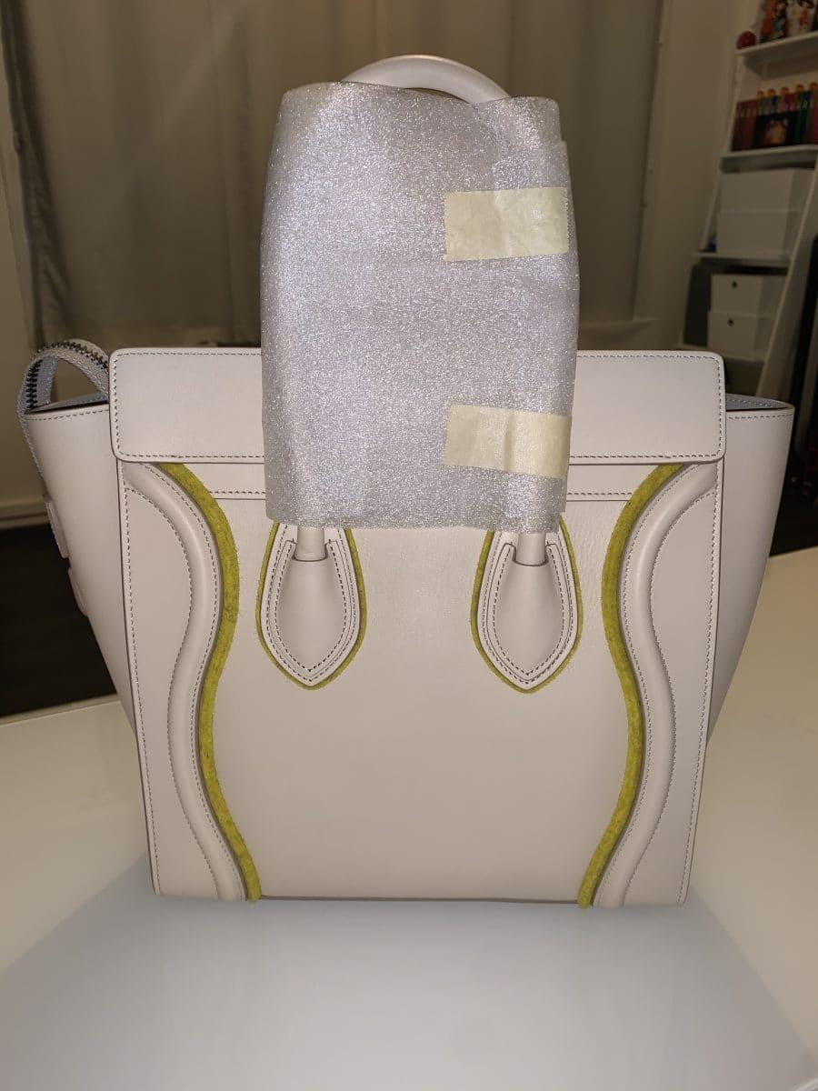 éline micro Luggage cuir beige NEUF. IconPrincess