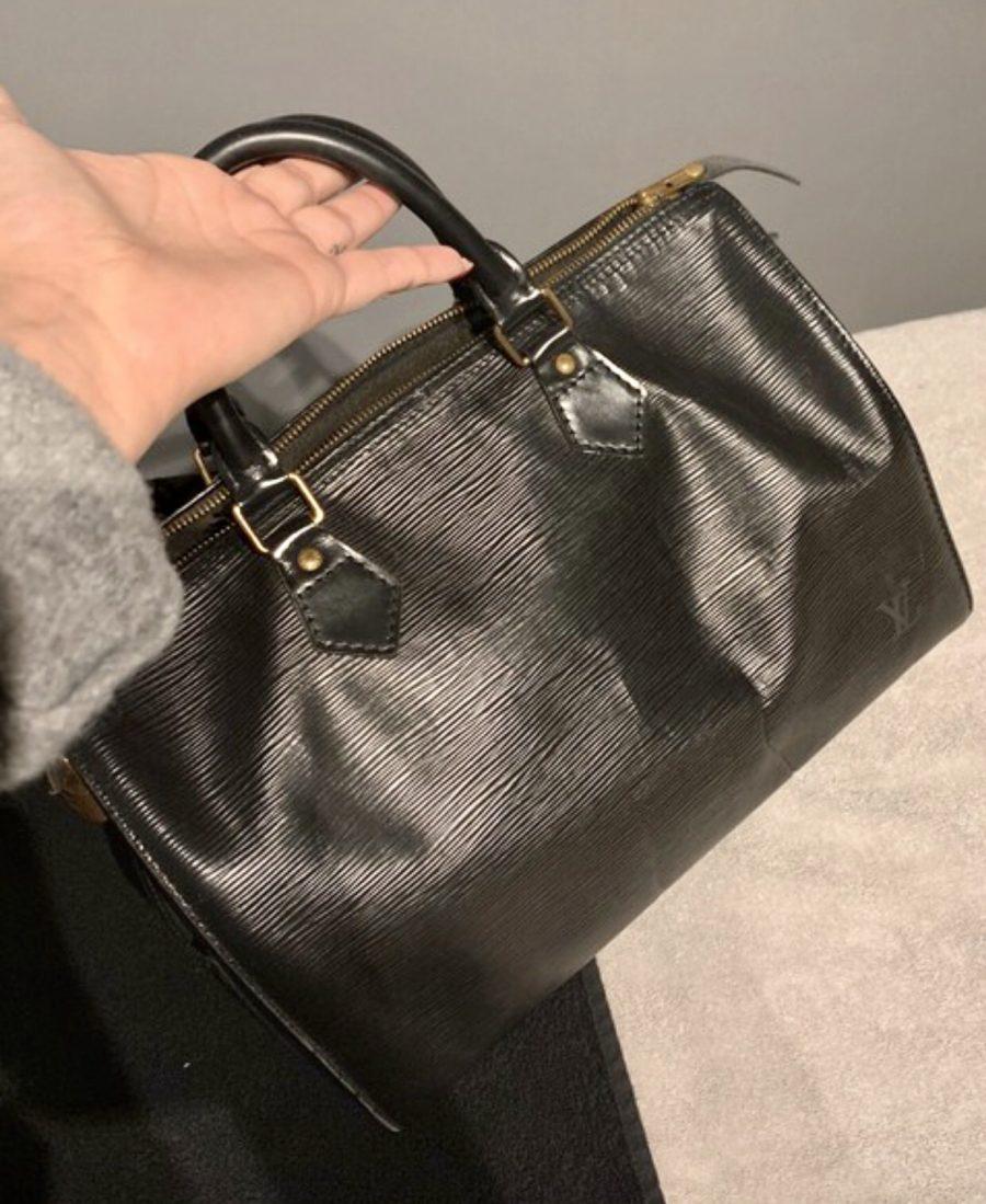 Louis Vuitton Speedy 30 cuir épi noir