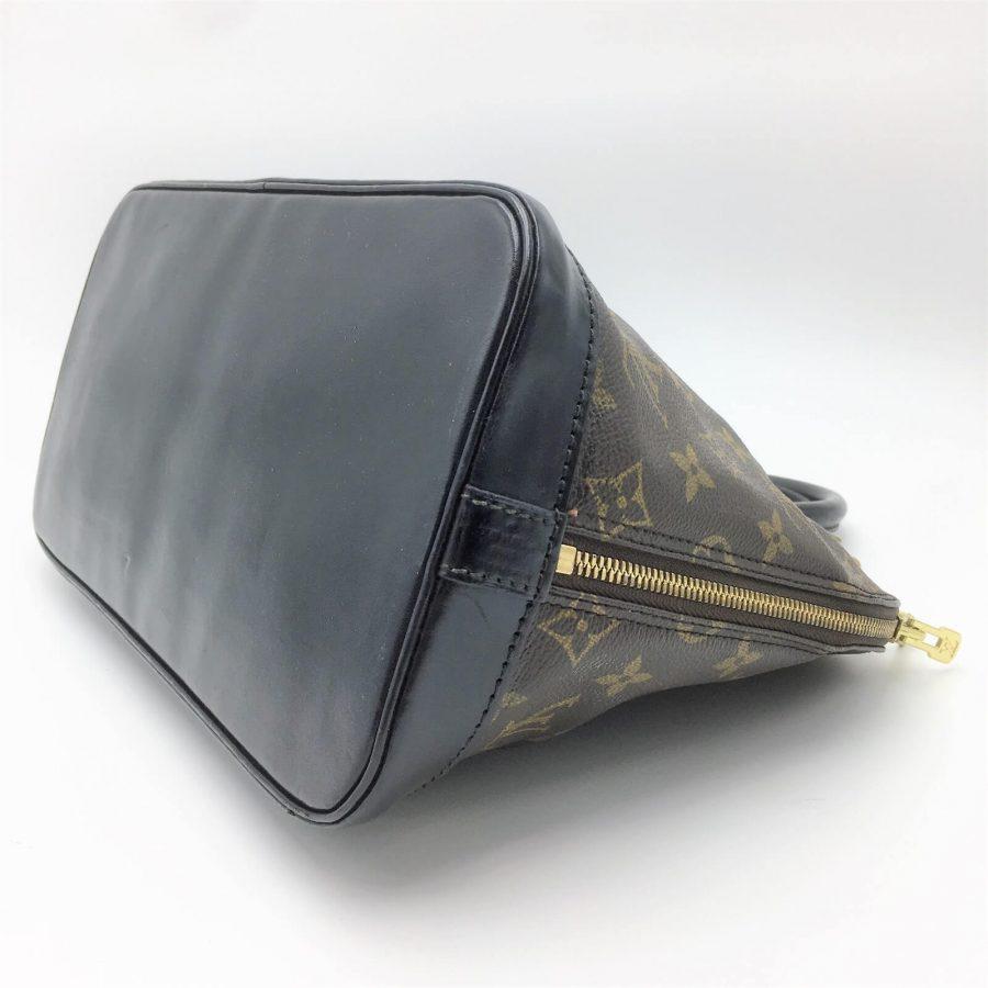 Louis Vuitton Alma monogram customisé noir verni