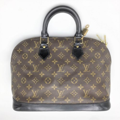Louis Vuitton Alma monogram customisé noir verni