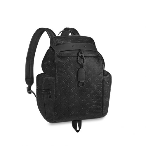 Louis Vuitton DISCOVERY cuir noir embossé Shadow