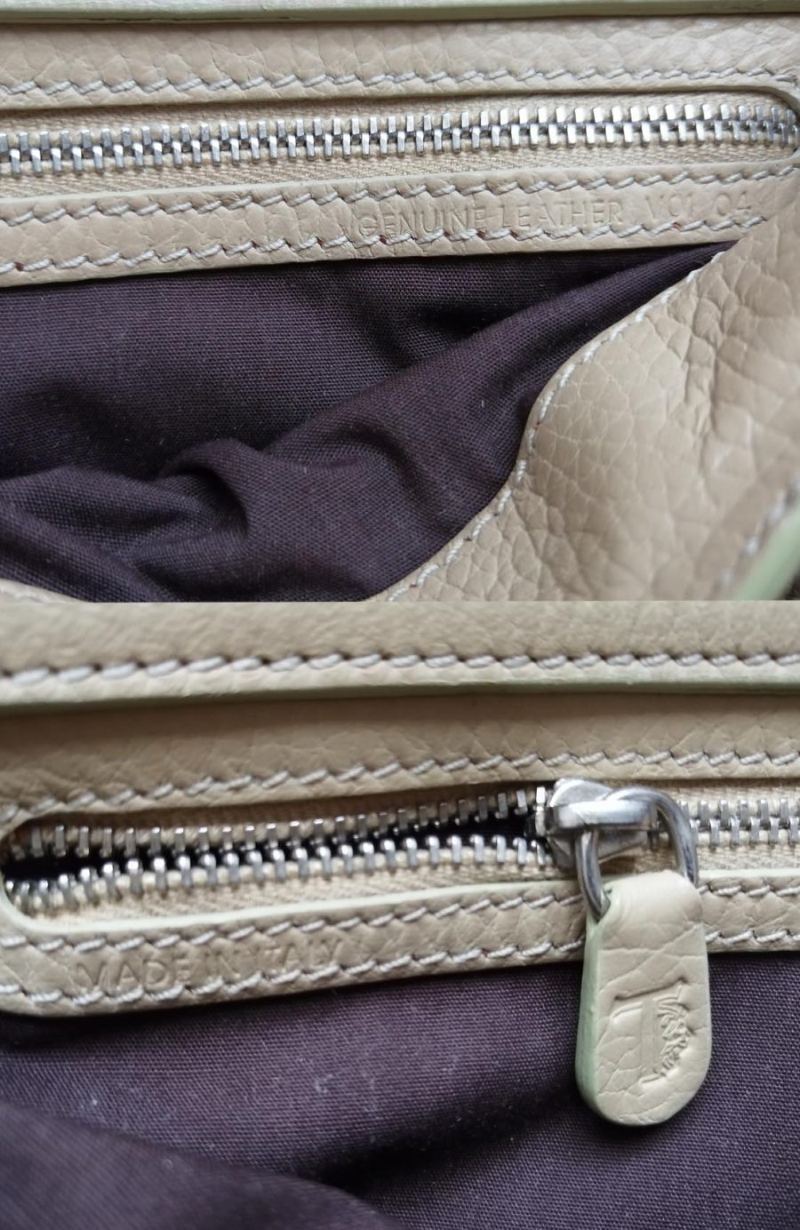 Tod's petit sac cuir grainé beige