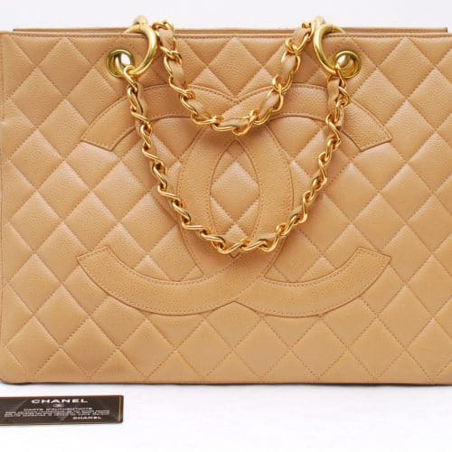 Chanel Shopping GST cuir beige