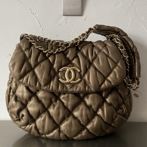 Chanel Bubble Cuir bronze doré
