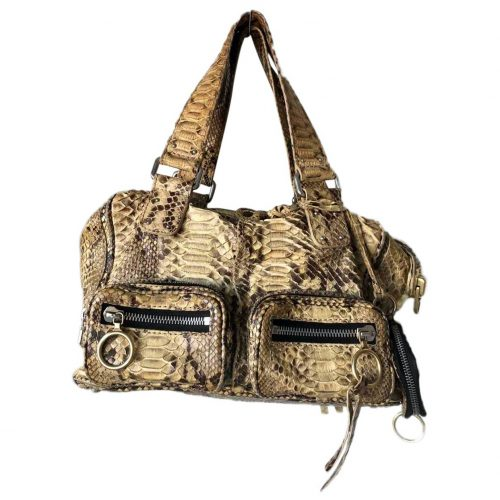 Sac Chloé Betty python beige jaune