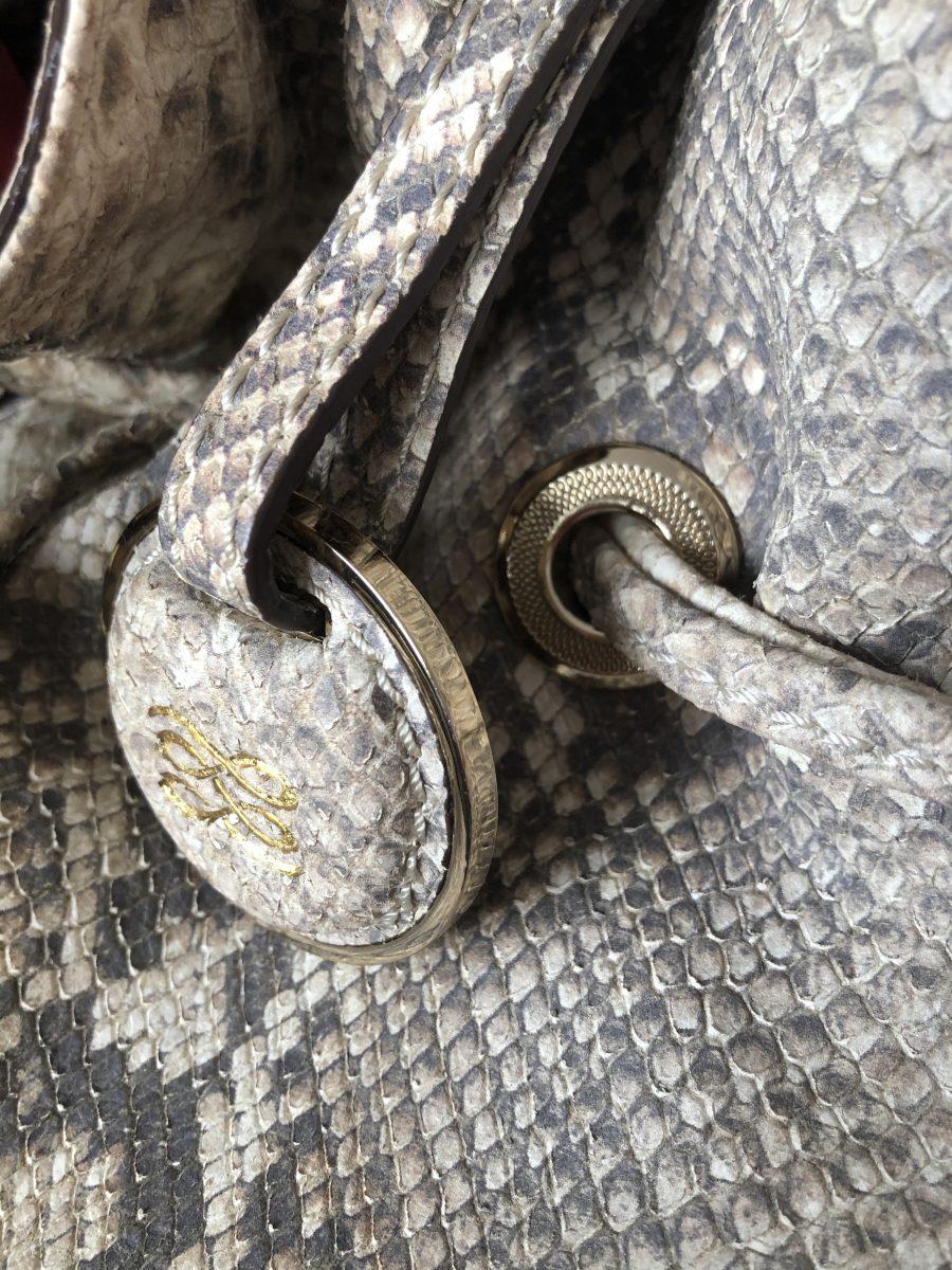Lancel Premier Flirt cuir veau façon python