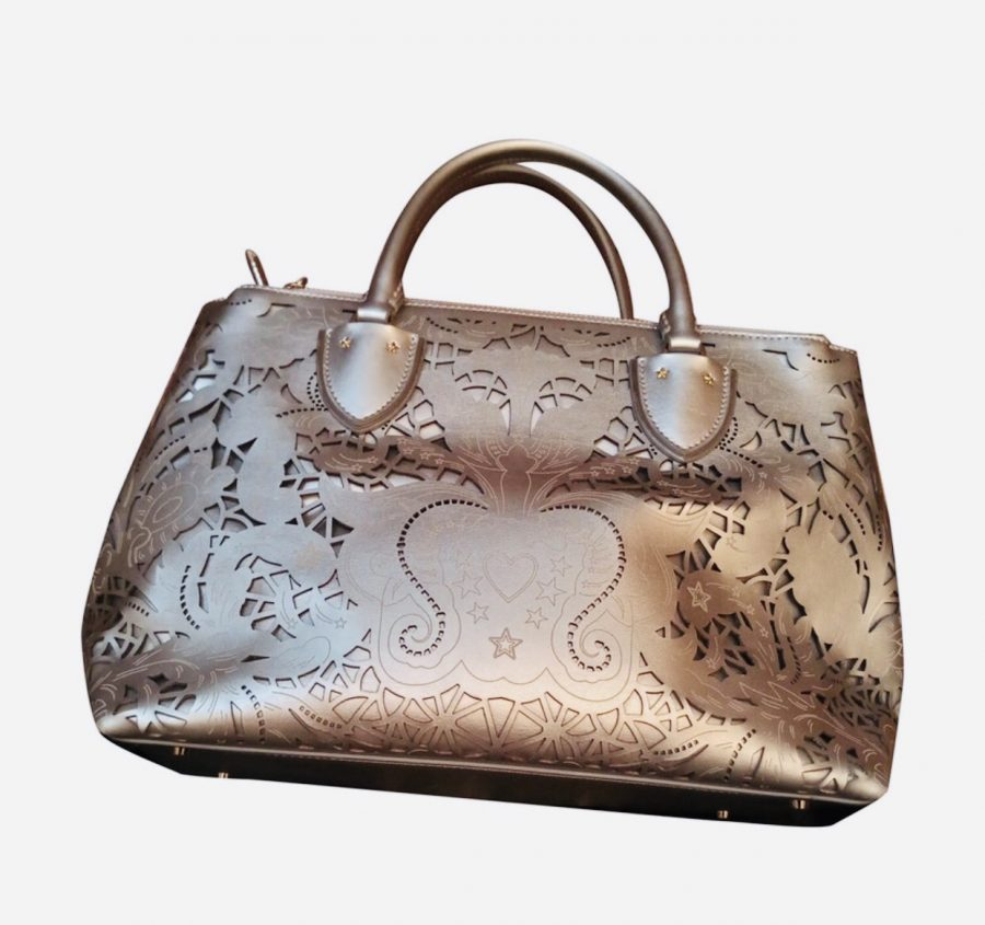 Roberto Cavalli Class Stardust 003 cuir silver. Excellent état - IconPrincess