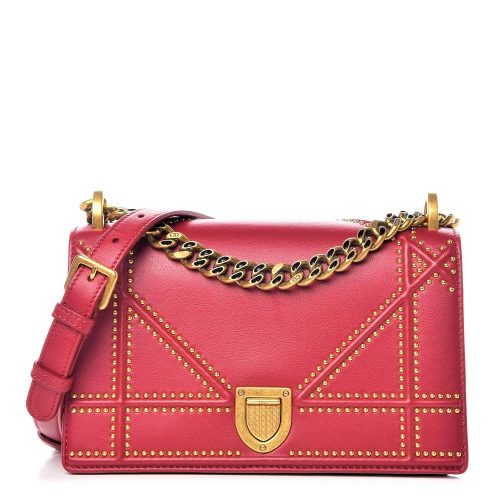 Dior Diorama MM cuir spicy red