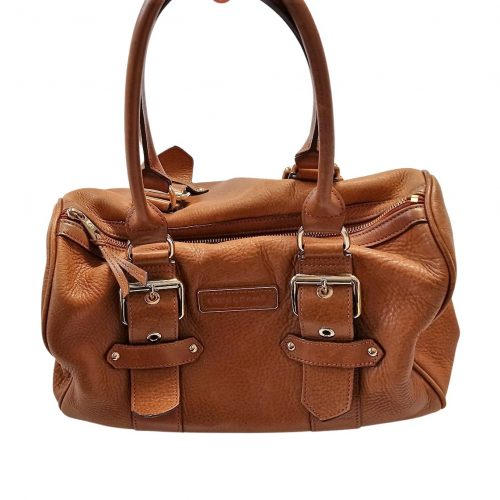 Longchamp Kate Moss cuir marron cognac