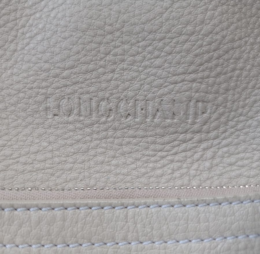 Longchamp de jour vintage cuir blanc