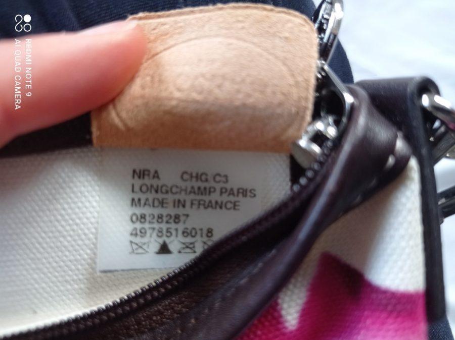 Longchamp pochette toile rose