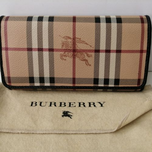 Burberry portefeuille toile Tartan