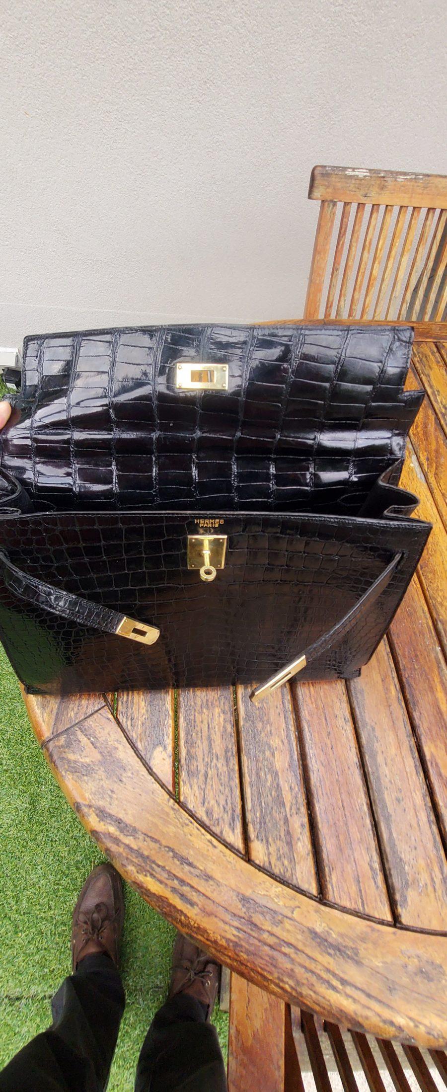 Herrmès birkin 35 cuir crocodile noir